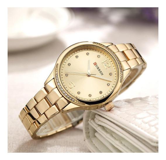 Relógios Curren Quartzo Aço Cristal Moda 2020