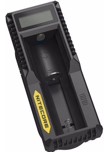 Cargador De Baterias Usb Nitecore 1 Slot De Carga Y Display