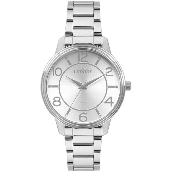 Relógio Condor Feminino Prateado Analógico Co2035mou/k3k