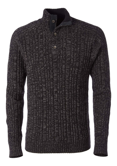 Sweater Hombre Oban Button Negro Royal Robbins By Doite