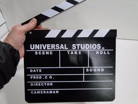 Claquete Profissional Filmagem Produção Filme Cinema 30x26cm
