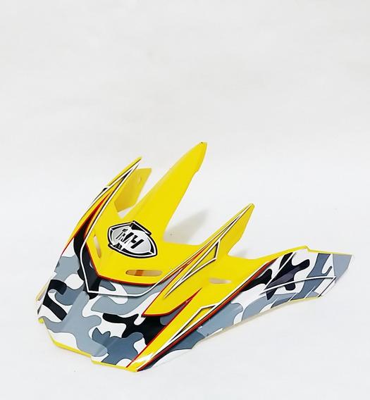 Pala Aba Visor Capacete Thh Tx22 Amarelo Motocross Trilha