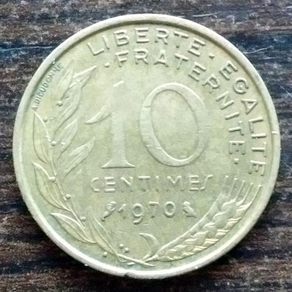 Moneda 10 Céntimos Francia 1970 Excelente