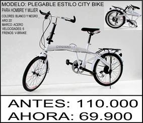 Bicicleta Plegable Nueva Importación Directa Envio Gratis