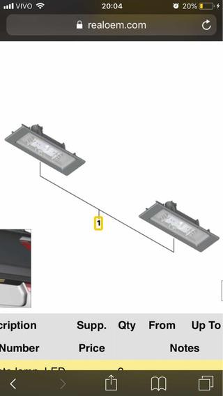 Lanterna Placa Bmw Mini Moto Bmw