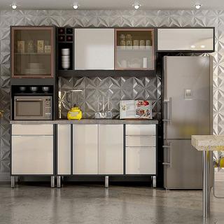 Cozinha Completa 4 Peças Ágata Grafite/off White Chf Móveis