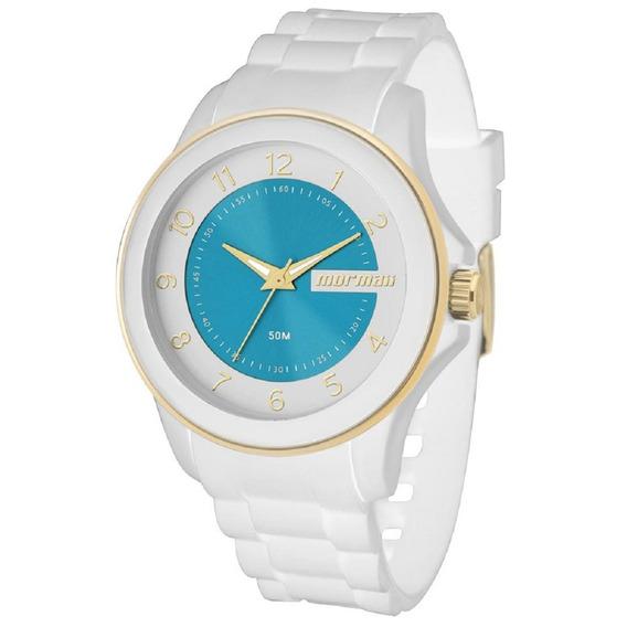 Relógio Mormaii Feminino Branco Luau Mo2035an/8b Original