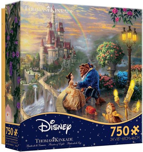 Bella Y Bestia Paisaje Castillo Rompecabezas 750 Disney Arte