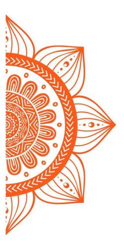 Imagem 1 de 10 de Adesivo Para Vidro Box Mandala Sementes - 50 X 1,00m