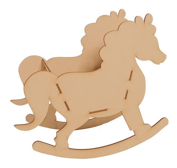 Pony De Mdf Para Centro De Mesa Florero O Dulcero