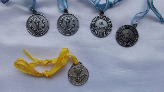 Medallas Deportivas Y Al Mérito Lote X 5