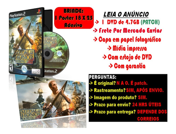 Medal Of Honor Rising Sun Para Ps2 + Brinde Poster Adesivo