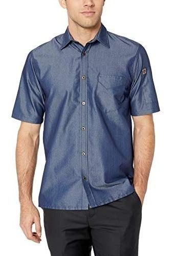 Camisa Vaquera De Manga Corta Detroit Works De Hombres, Indi