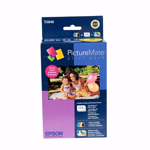 Kit Epson T5846 150 Papéis 10x15 + Cart. Pm225 Val. 04/2021