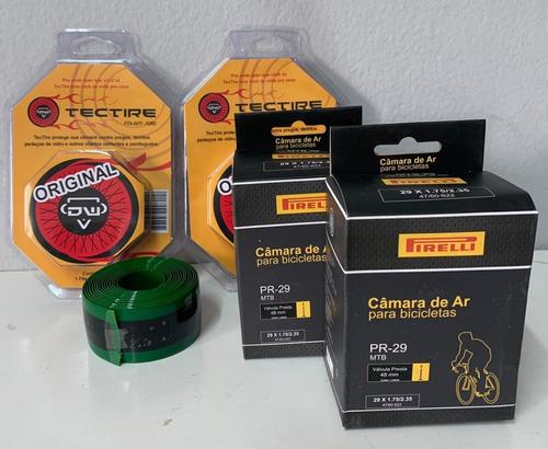 Kit Fita Anti Furo + Camara Pirelli 29x1.75/2.35