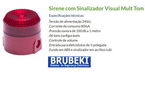 Sinalizador - Sirene Audiovisual 6 Tons