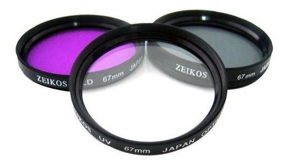 Kit De Filtros Zeikos Ze-flk67 67mm #