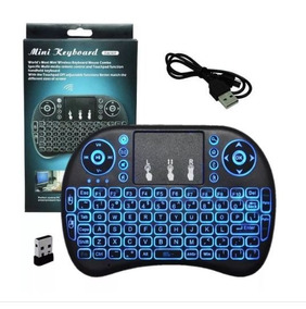 Mini Teclado Mouse Led Rgb Touch Usb Keyboard