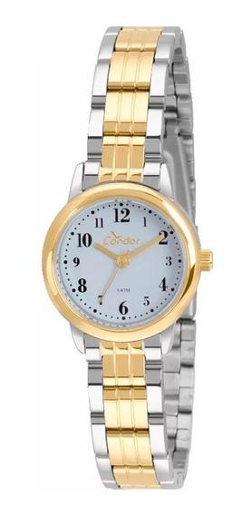 Relógio Feminino Condor Prata E Dourado Bicolor Pequeno