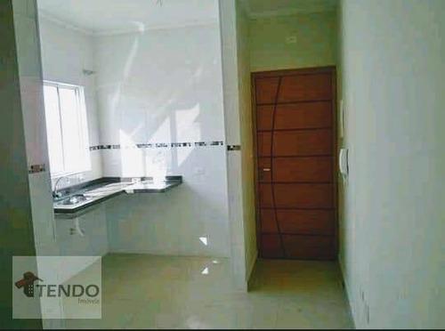 Imagem 1 de 15 de Imob01 - Apartamento 40 M² - Venda - 2 Dormitórios - Jardim Utinga - Santo André/sp - Ap0524