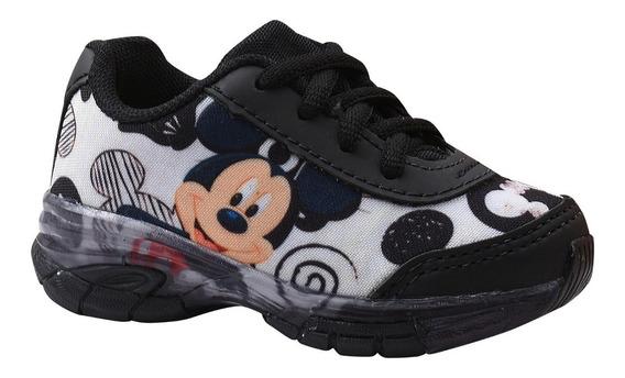 Tênis Infantil Masculino Mickey Com Luz.