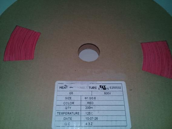 Espaguete Tubo Isolante Termo Retrátil 1mm Rolo 200 Metros Preto Ou Vermelho
