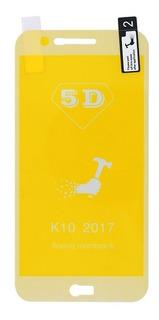 Película De Silicone Gel 5d Lg K10 2017 Dourada