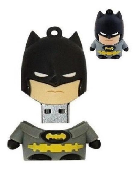 Pendrive 8gb Emborrachado Personalizado Desenho Batman
