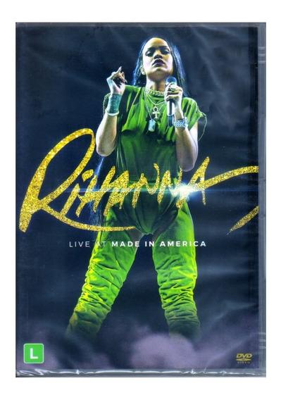 Rihanna Live At Made In America Dvd Original Novo Lacrado