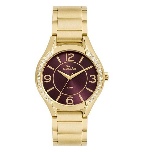 Relógio Condor Feminino Dourado Co2035krg/4g Loja Autorizada