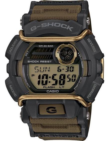 Casio G-shock Gd-400-9 Dorado, Bisel Negro Con Protector