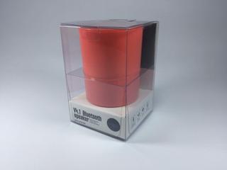 Mini Parlante Bluetooth Con Bateria Recargable Rojo