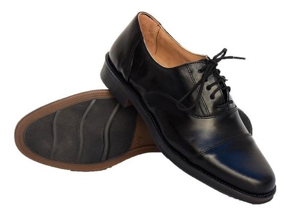 Zapatos De Hombre, Seguridad, Uniforme-policia. Cuero Vacuno