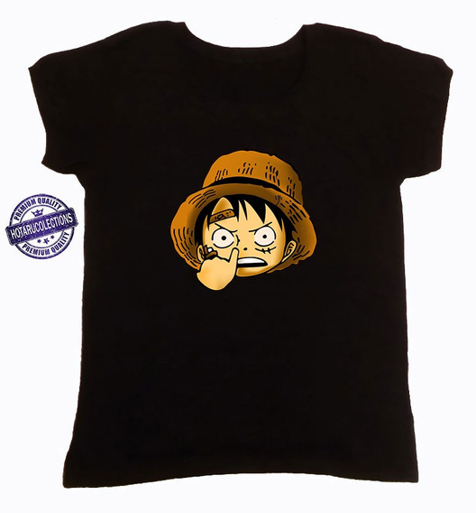 Remera One Piece Anime Negra Mod 5 Hotarucolections