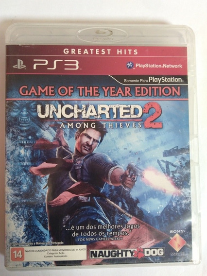 Game Uncharted 2 Among Thieves Midia Física Ps3 R$44