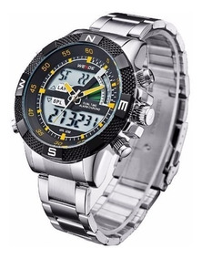 Relógio Masculino Weide Wh-1104-3 Anadigi Esporte Aço