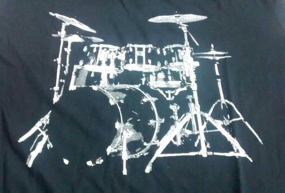 Camiseta Bateria Preta Hcd Hcd012
