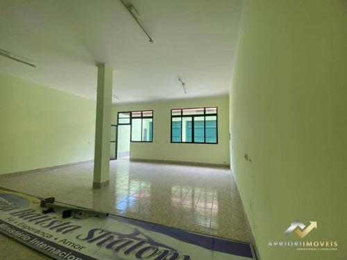 Salão Para Alugar, 100 M² Por R$ 2.500,00/mês - Parque Novo Oratório - Santo André/sp - Sl0161