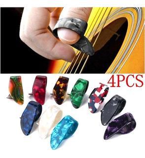Set De 4 Piezas Púas Pulgar De Dedo Guitarra Color Aleatorio