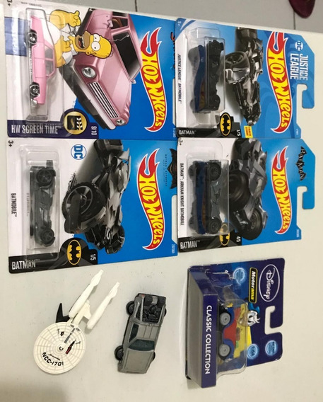 Lote Veículos Hot Wheels - Batmobile - Simpsons - Star Trek