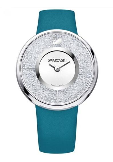 Relógio Swarovski Crystalline Azul Novo Original