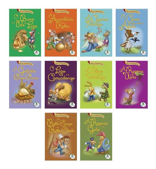 Livro Infantil Fabulas Inesquecíveis C/10 Unidades