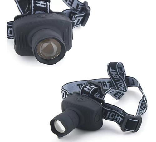 Imagen 1 de 5 de Combo 2 Linternas Tipo Mineras Vincha Zoom