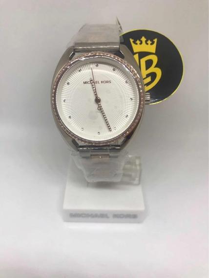 Relógio Mk3676 Prata Original, Caixa, Manual E Garantia