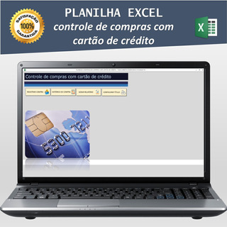 Planilha Excel Compras Com Cartão De Crédito / Parcelado