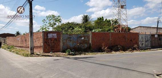 Terreno Á Venda Em Esquina Da Rua Bela Vista Com Av. Nova Fortaleza Com Tamanho De 16m(frente) X 33m(fundos) - Te0015