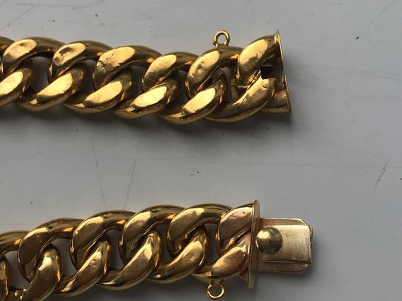 Pulseira Ouro 18k.-23.8gr.-18.8cm.-12mm.larg.unisex.