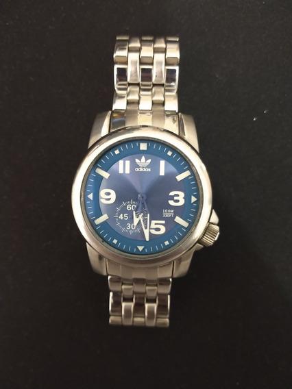 Relógio adidas Original, Pulseira De Aço , Azul Muito Novo