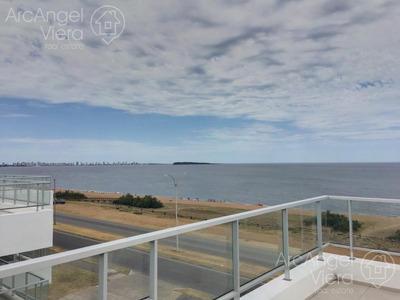 Apartamento Penthouse Frente Al Mar, Parrillero, Piscina, Con Amenities Premium -playa Mansa - Punta Del Este -ville De Mer