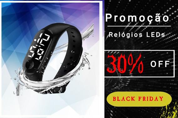 Promoção Relógios Led Esporte Bracelet Homem Mulher Hora Dat